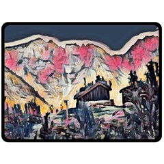 Modern Abstract Painting Double Sided Fleece Blanket (large)