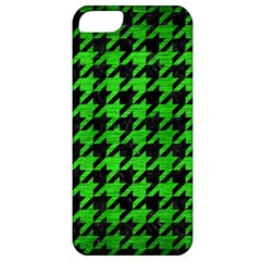 Houndstooth1 Black Marble & Green Brushed Metal Apple Iphone 5 Classic Hardshell Case