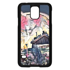 Modern Abstract Painting Samsung Galaxy S5 Case (black)