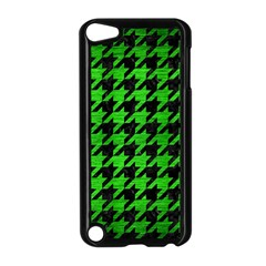Houndstooth1 Black Marble & Green Brushed Metal Apple Ipod Touch 5 Case (black)