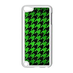 Houndstooth1 Black Marble & Green Brushed Metal Apple Ipod Touch 5 Case (white)