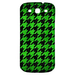 Houndstooth1 Black Marble & Green Brushed Metal Samsung Galaxy S3 S Iii Classic Hardshell Back Case