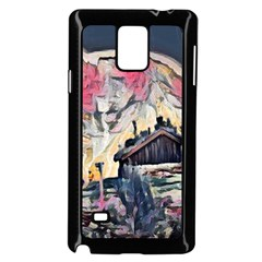 Modern Abstract Painting Samsung Galaxy Note 4 Case (black)