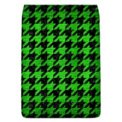 Houndstooth1 Black Marble & Green Brushed Metal Flap Covers (s)