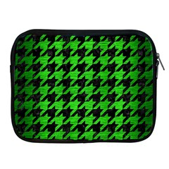Houndstooth1 Black Marble & Green Brushed Metal Apple Ipad 2/3/4 Zipper Cases