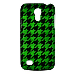Houndstooth1 Black Marble & Green Brushed Metal Galaxy S4 Mini