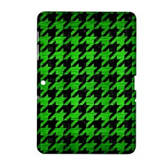 Houndstooth1 Black Marble & Green Brushed Metal Samsung Galaxy Tab 2 (10 1 ) P5100 Hardshell Case