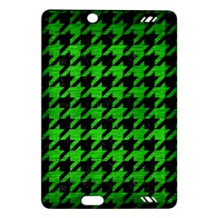Houndstooth1 Black Marble & Green Brushed Metal Amazon Kindle Fire Hd (2013) Hardshell Case