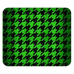 Houndstooth1 Black Marble & Green Brushed Metal Double Sided Flano Blanket (small)