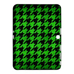 Houndstooth1 Black Marble & Green Brushed Metal Samsung Galaxy Tab 4 (10 1 ) Hardshell Case