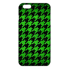 Houndstooth1 Black Marble & Green Brushed Metal Iphone 6 Plus/6s Plus Tpu Case