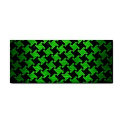 Houndstooth2 Black Marble & Green Brushed Metal Cosmetic Storage Cases