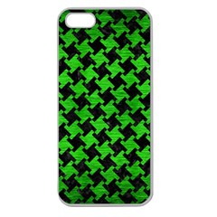 Houndstooth2 Black Marble & Green Brushed Metal Apple Seamless Iphone 5 Case (clear)