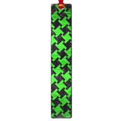 Houndstooth2 Black Marble & Green Brushed Metal Large Book Marks