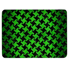 Houndstooth2 Black Marble & Green Brushed Metal Samsung Galaxy Tab 7  P1000 Flip Case