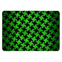 Houndstooth2 Black Marble & Green Brushed Metal Samsung Galaxy Tab 8 9  P7300 Flip Case