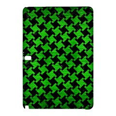 Houndstooth2 Black Marble & Green Brushed Metal Samsung Galaxy Tab Pro 12 2 Hardshell Case
