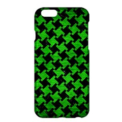 Houndstooth2 Black Marble & Green Brushed Metal Apple Iphone 6 Plus/6s Plus Hardshell Case