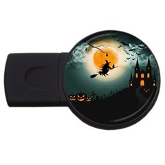 Halloween Landscape Usb Flash Drive Round (2 Gb)