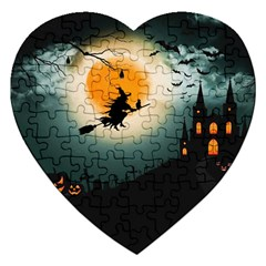 Halloween Landscape Jigsaw Puzzle (heart)