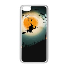 Halloween Landscape Apple Iphone 5c Seamless Case (white)