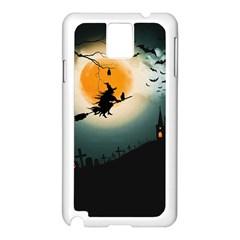 Halloween Landscape Samsung Galaxy Note 3 N9005 Case (white)