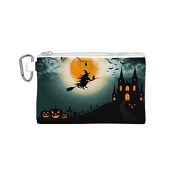 Halloween Landscape Canvas Cosmetic Bag (s)