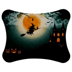 Halloween Landscape Jigsaw Puzzle Photo Stand (bow)