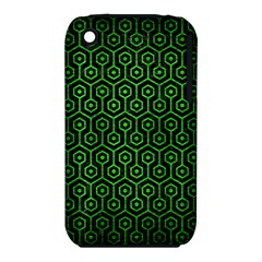 Hexagon1 Black Marble & Green Brushed Metal Iphone 3s/3gs