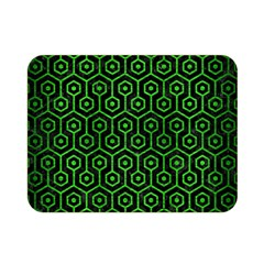 Hexagon1 Black Marble & Green Brushed Metal Double Sided Flano Blanket (mini)