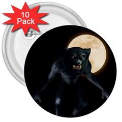 Werewolf 3  Buttons (10 Pack)