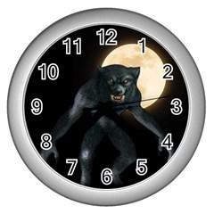 Werewolf Wall Clocks (silver)