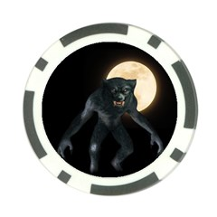 Werewolf Poker Chip Card Guard