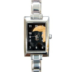 Werewolf Rectangle Italian Charm Watch