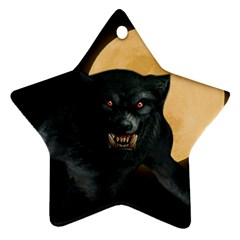 Werewolf Star Ornament (two Sides)