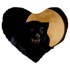 Werewolf Large 19  Premium Heart Shape Cushions
