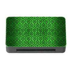 Hexagon1 Black Marble & Green Brushed Metal (r) Memory Card Reader With Cf
