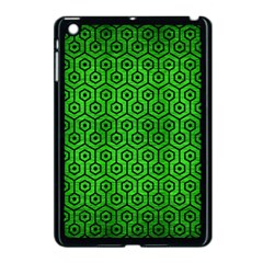 Hexagon1 Black Marble & Green Brushed Metal (r) Apple Ipad Mini Case (black)