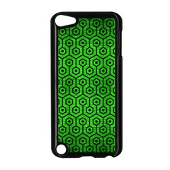 Hexagon1 Black Marble & Green Brushed Metal (r) Apple Ipod Touch 5 Case (black)