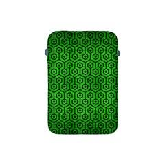 Hexagon1 Black Marble & Green Brushed Metal (r) Apple Ipad Mini Protective Soft Cases