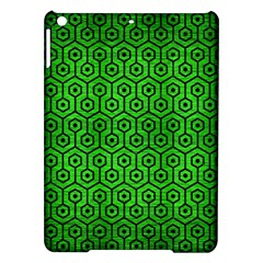 Hexagon1 Black Marble & Green Brushed Metal (r) Ipad Air Hardshell Cases