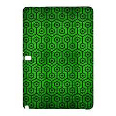 Hexagon1 Black Marble & Green Brushed Metal (r) Samsung Galaxy Tab Pro 10 1 Hardshell Case