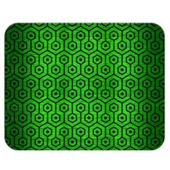Hexagon1 Black Marble & Green Brushed Metal (r) Double Sided Flano Blanket (medium)