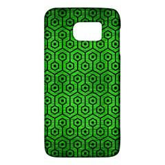 Hexagon1 Black Marble & Green Brushed Metal (r) Galaxy S6