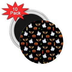 Halloween Pattern 2 25  Magnets (10 Pack)