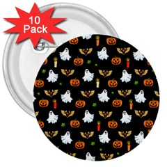 Halloween Pattern 3  Buttons (10 Pack)
