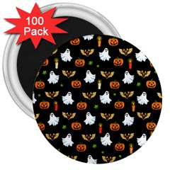 Halloween Pattern 3  Magnets (100 Pack)
