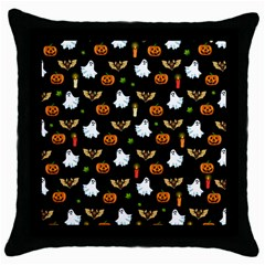 Halloween Pattern Throw Pillow Case (black)
