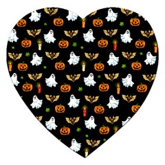 Halloween Pattern Jigsaw Puzzle (heart)