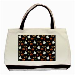 Halloween Pattern Basic Tote Bag